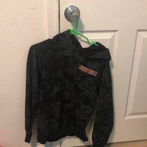 black tie dye hoodie